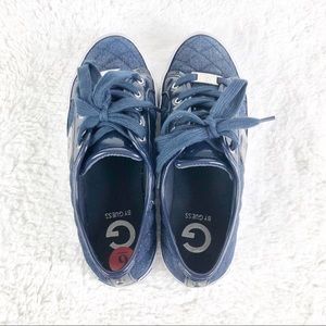 G by guess blue low-top sneakers